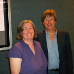 With Dave Barry at the WeGiveBooks.org Press Conference