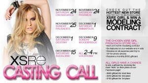 Be the Next #XSREGirl and Win a Modeling Contract! Casting Call…Westfield Annapolis Mall (MD)