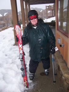 Wordless Wednesday: I'm Skiing in the Rain!