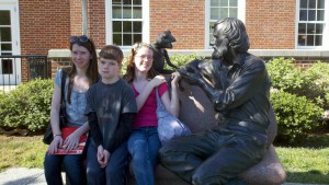 The Musings from Me kids with Jim Henson and Kermit at the University of Maryland College Park