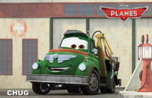 And a World of Cars movie wouldn't be as good without a trusty sidekick. Think of him as Mater's long-lost, but more on-the-ball cousin, Chug