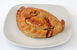 Cornish pasty. Source: Wikipedia.