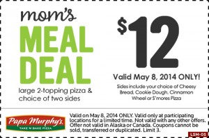 Today Only! Celebrate National Mom's Nite Out with Papa Murphy's Pizza! #PapaMurphysMNO