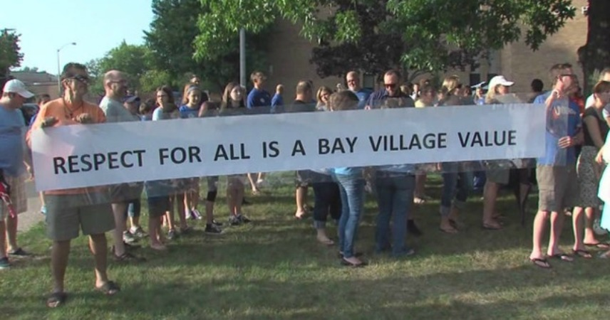 #Love>Hate Rally for Tolerance at Bay Village High School