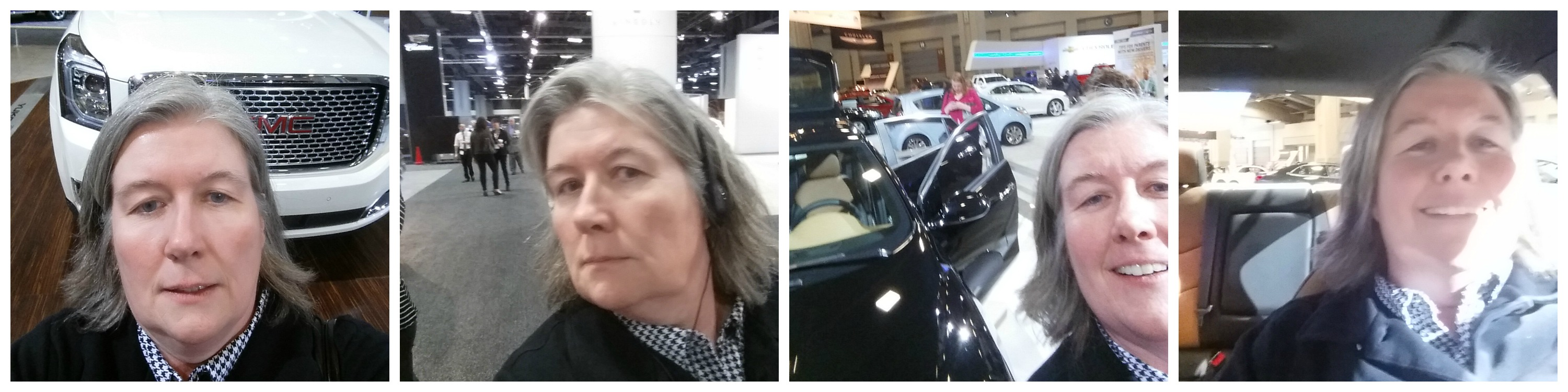 Selfies at the Washington Auto Show