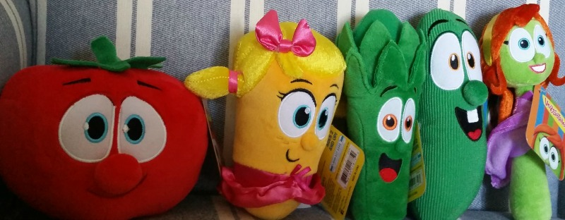 VeggieTales Fun Plush Toys Bob Laura Junior Larry Petunia Walmart