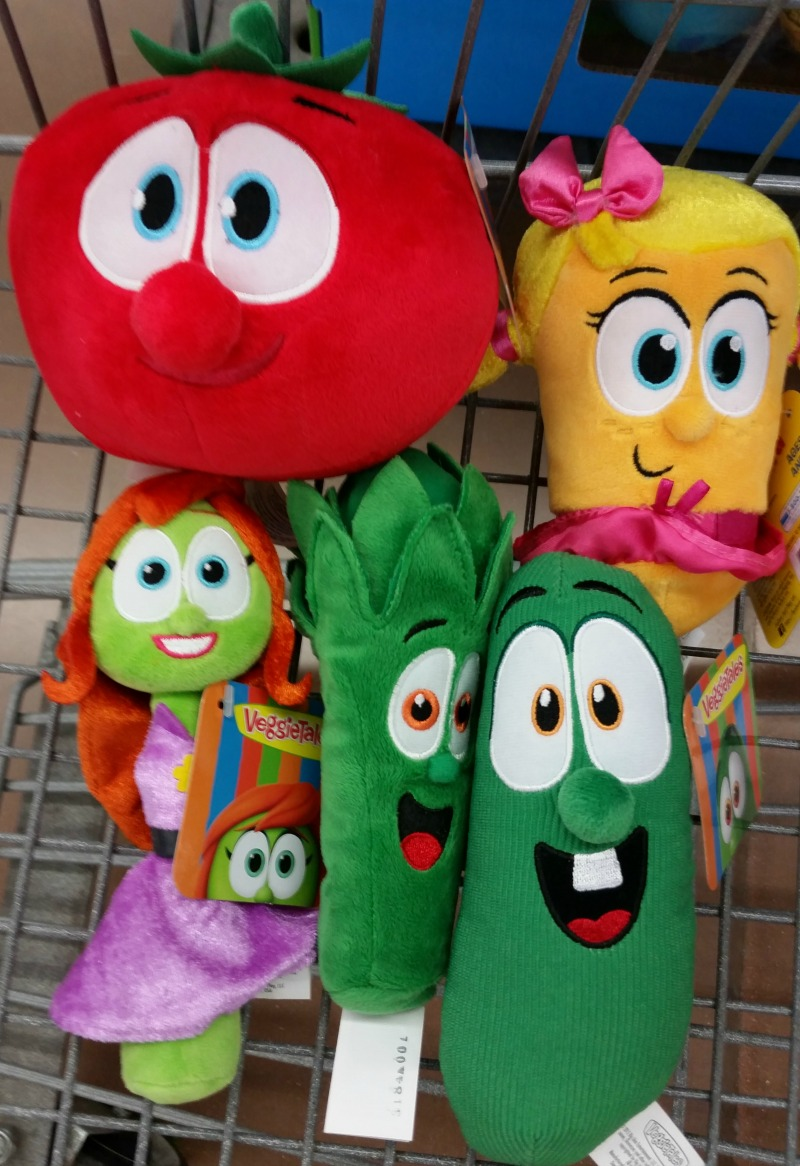 VeggieTalesFun Plush Toys Bob Laura Petunia Junior Larry Walmart Shopping Cart