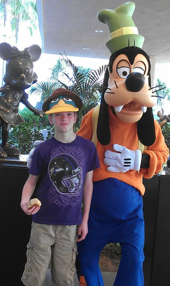 Disneyland Goofy Perry the Platypus Hat Phineas & Ferb Disneyland Hotel