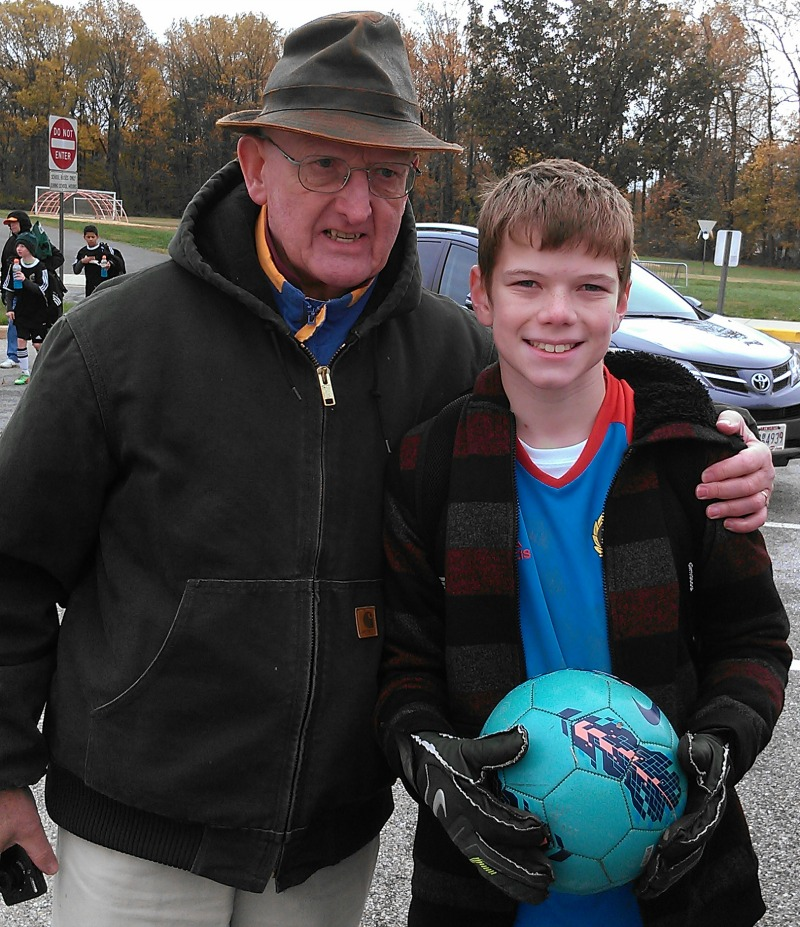 Soccer James and Grandad Away Game