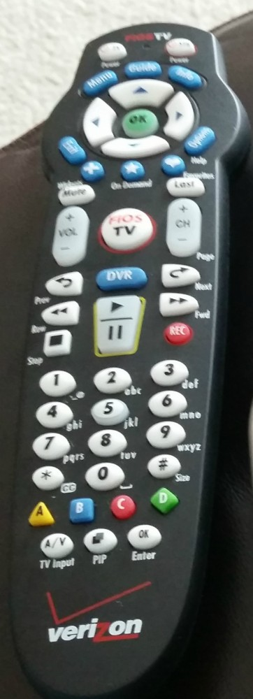 Socialstars Verizon FiOS Custom TV Remote Customizable Entertainment