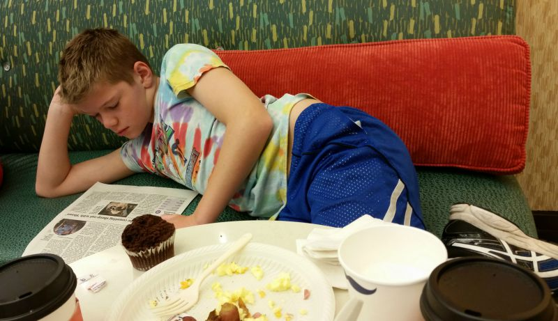 CollegeTourCation Hampton Inn Breakfast Newspaper College Tour Family Vacation