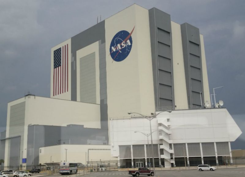 Kennedy Space Center Vehicle Assembly Building VAB Travel Vacation CollegeTourCation