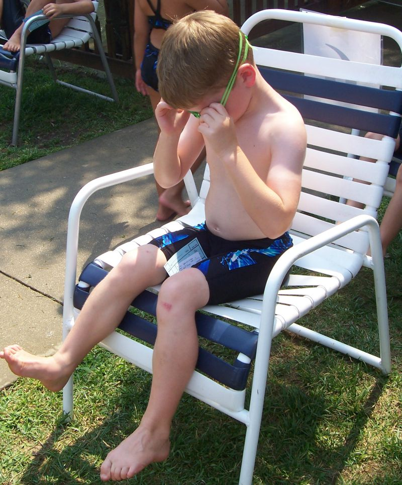 2008 July Swim Team James Clerk of Course