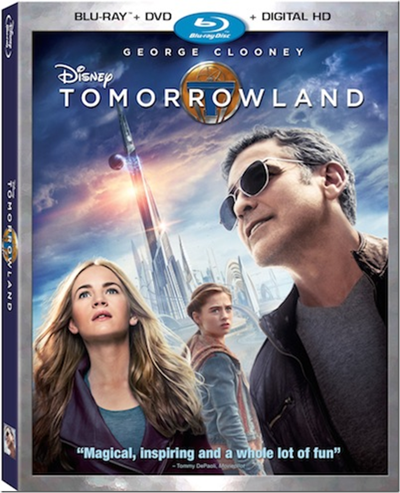 Tomorrowland DVD Bluray Combo Disney George Clooney Britt Robertson Hugh Laurie Raffey Cassidy Thomas Robinson